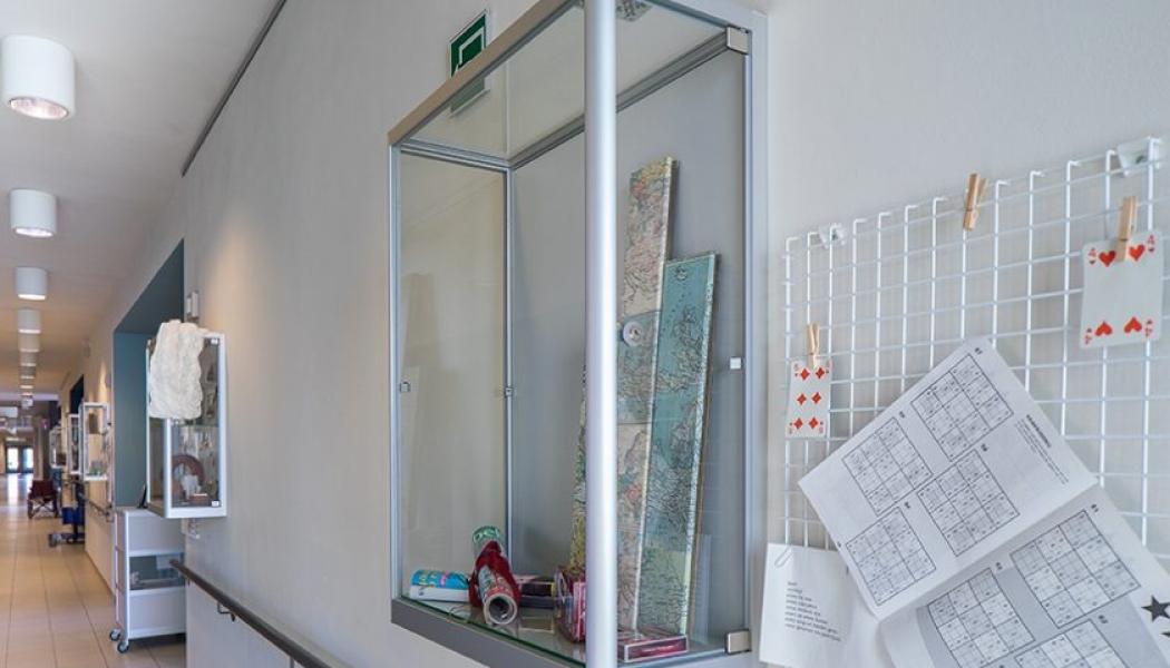 Wall Showcases for residents Zorgcentrum Immaculata Edegem