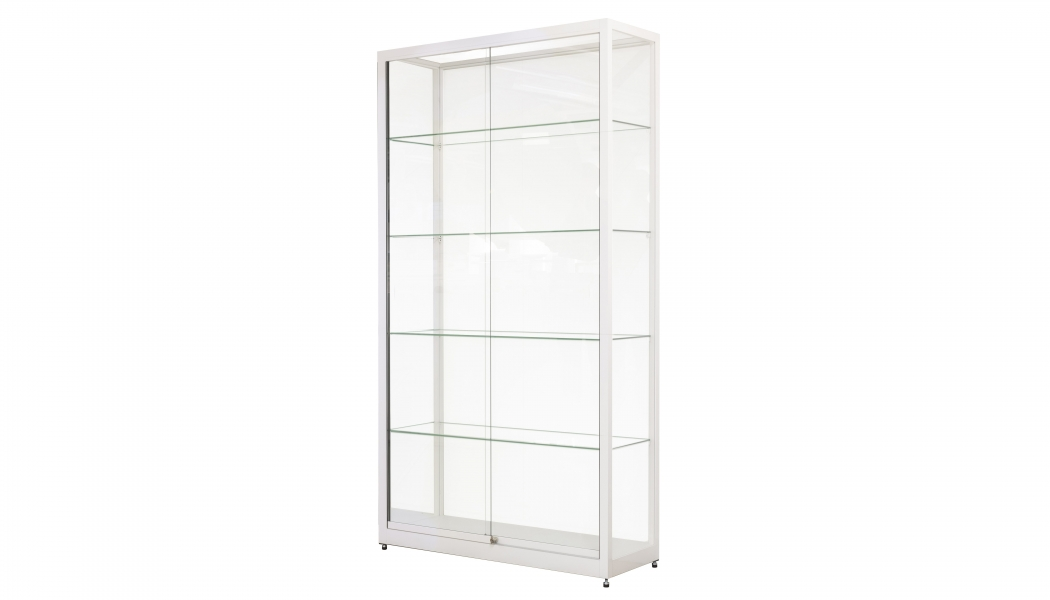 Witte vitrine 1 meter breed
