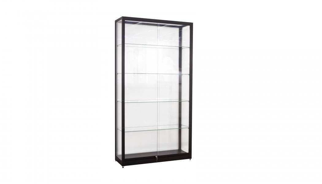 Zwarte vitrine 1 meter breed